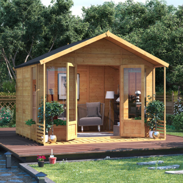 10 x 10 BillyOh Ivy Tongue and Groove Apex Roof Garden Summerhouse