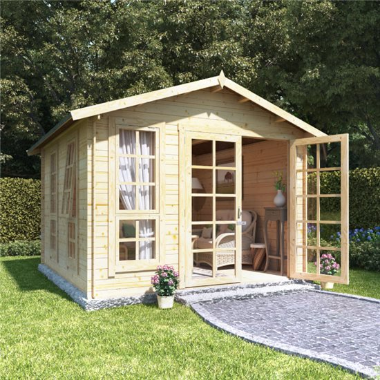 10 x 10 BillyOh Miller Log Cabin Summerhouse - 19