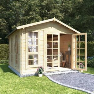 10 x 10 BillyOh Miller Log Cabin Summerhouse - 28