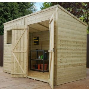 10' x 7' Pressure Treated Wooden Pent Shed