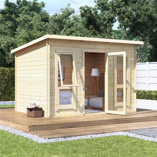 10 x 8 BillyOh Carmen Log Cabin Summerhouse - 19