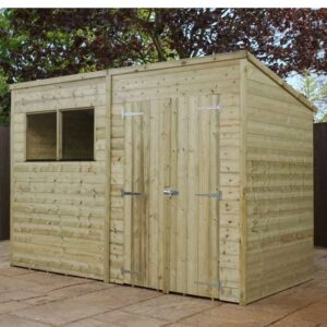 10' x 8' Pressure Treated Wooden Pent Shed