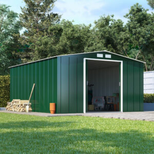 10x10 BillyOh Partner Eco Apex Roof Metal Shed - Green