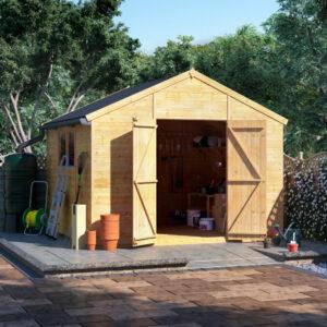 10x10 T&G Apex Shed - BillyOh Expert Workshop Windowed