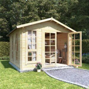 10x10 georgian bl oor BillyOh Miller Log Cabin Summerhouse - 19
