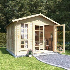 10x10 georgian bl oor BillyOh Miller Log Cabin Summerhouse - 28