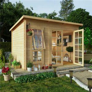 10x8 BillyOh Pent Log Cabin Summerhouse Range - 19