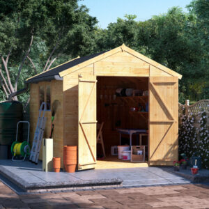 10x8 T&G Apex Shed - BillyOh Expert Workshop Windowed