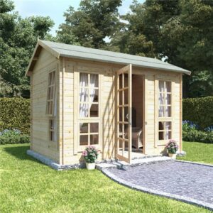 10x8 georgian sgl oor BillyOh Riley Log Cabin Summerhouse - 19