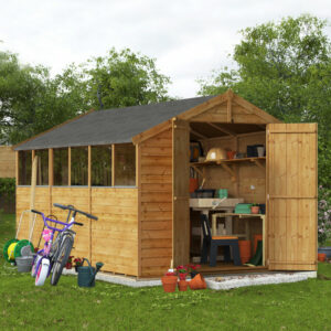 12x8 Overlap Apex Shed - BillyOh Keeper Windowed