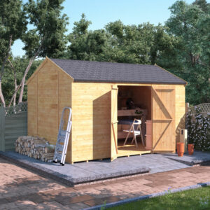 12x8 T&G Reverse Apex Shed - BillyOh Expert Reverse Workshop Windowless