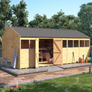 20x10 T&G Reverse Apex Shed - BillyOh Expert Reverse Workshop Windowed