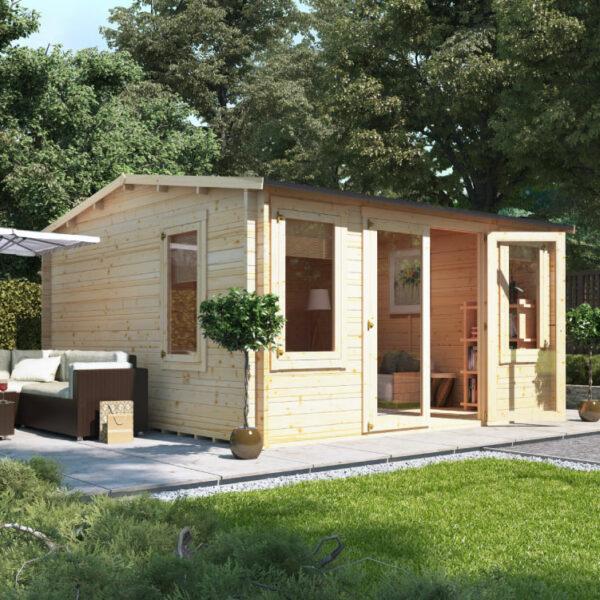 4.0m x 4.5m BillyOh Dorset Log Cabin - 28,44