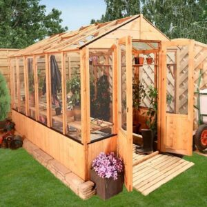 BillyOh 4000 Lincoln Wooden Clear Wall Greenhouse with Opening Roof Vent - 9 x 6 Lincoln Wooden Greenhouse