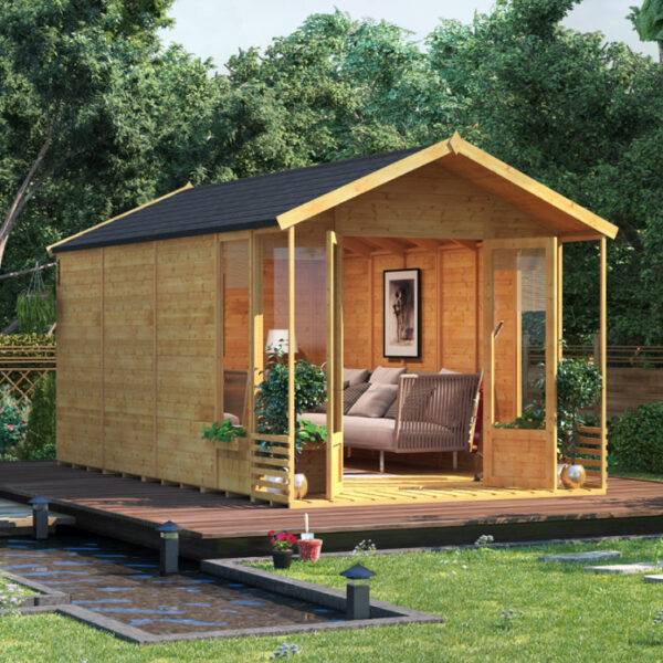 BillyOh Ivy Tongue and Groove Apex Summerhouse - 16x8 T&G Apex Summerhouse