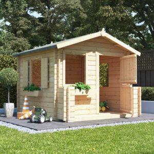 BillyOh Junior Log Cabin Playhouse - 28mm Junior Log Cabin W2.0m x D2.0m