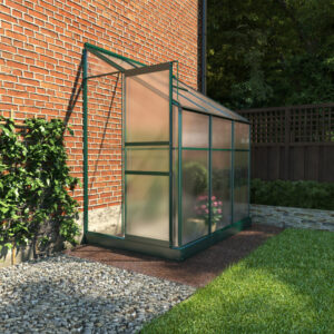 BillyOh Polycarbonate Lean-To Greenhouse - 4x6 Green