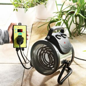 Bio Green Palma 2kw Greenhouse Heater with Digital Thermostat