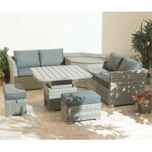 Cambridge Garden Furniture Sofa Collection With Storage and Adjustable Table