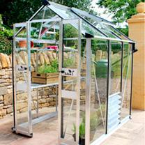 Eden Birdlip 44 Greenhouse - Green Aluminium