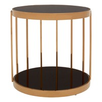 Fifty Five South πpe; Novo Rose Gold Cage Design Side Table