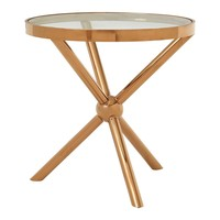 Fifty Five South πpe; Novo Round / Rose Gold Side Table