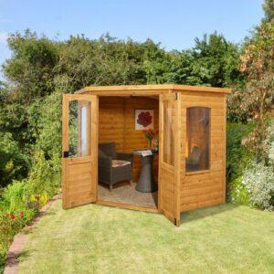 Forest Garden 7 x 7 Cranbourne Corner Summerhouse (ASSEMBLED)