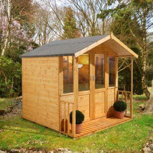 Forest Garden 7 x 7 Maplehurst Summerhouse (ASSEMBLED)