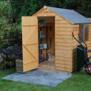 Forest Garden Apex Overlap Dipped 8 x 6 Wooden Garden Shed (ASSEMBLED)
