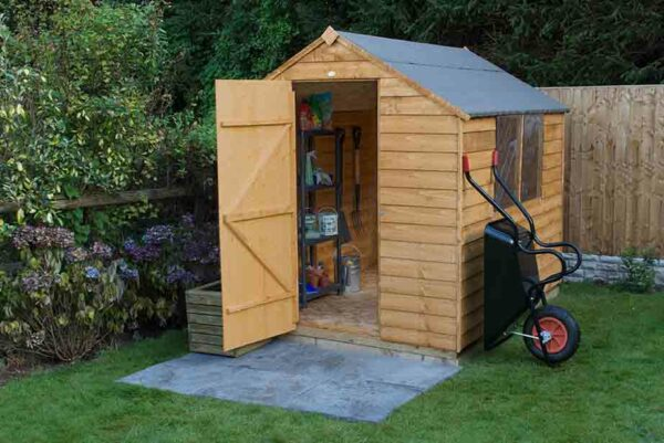 Forest Garden Apex Overlap Dipped 8 x 6 Wooden Garden Shed (ASSEMBLED)