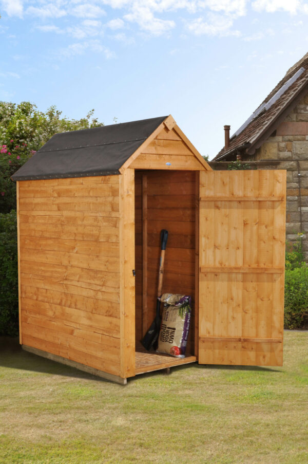 Forest Garden Apex Overlap Dipped No Window 3 x 5 Wooden Garden Shed (ASSEMBLED)