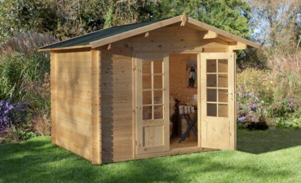 Forest Garden Bradnor Log Cabin 3.0m x 2.5m (ASSEMBLED)