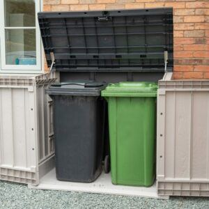 Forest Garden Extra Large Garden Storage Unit / Bin Store - 1200 Litre (Grey)