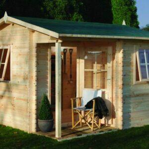 Forest Garden Malvern Log Cabin 3.6m x 3.6m (ASSEMBLED)