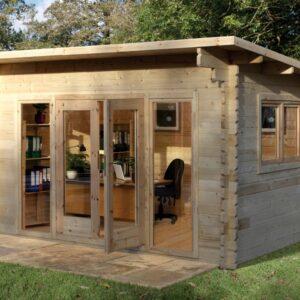 Forest Garden Melbury Log Cabin 4.0m x 3.0m (ASSEMBLED)