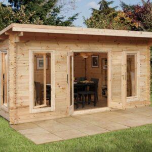 Forest Garden Mendip Log Cabin 5.0m x 4.0m (ASSEMBLED)