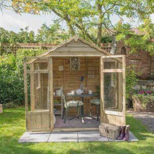 Forest Garden Oakley Summerhouse - Overlap Pressure Treated 7 x 5 (ASSEMBLED)