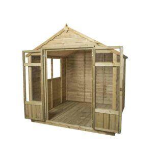 Forest Garden Oakley Summerhouse - Overlap Pressure Treated 7 x 7 (ASSEMBLED)