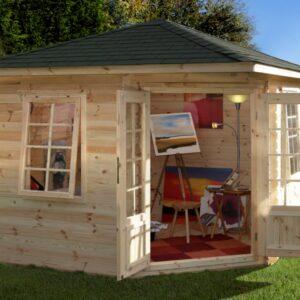 Forest Garden Wenlock Log Cabin 3.0m x 3.0m 28mm (ASSEMBLED)
