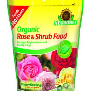 Neudorff Organic Rose & Shrub Plant Food with Mycorrhiza - 1.25 kg POUCH BAG