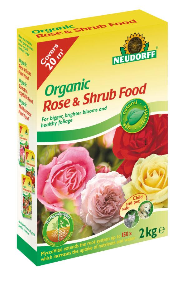 Neudorff Organic Rose & Shrub Plant Food with Mycorrhiza - 2 kg BOX