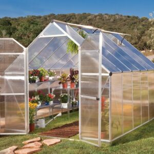 Palram Essence 8 x 12 Silver Greenhouse