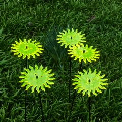 SunCatcher Sun Garden Stake Set - Yellow -15cm