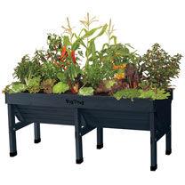 Vegtrug Classic 1.8m Charcoal with Frame and Cover
