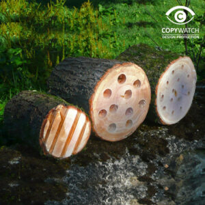Wildlife World Mini Beast Log Cabins (Set of 3)