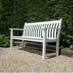 Alexander Rose Broadfield 3 Seater Bench - White