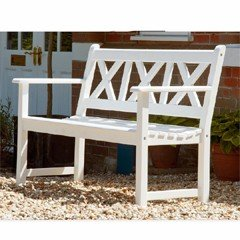 Alexander Rose Drachmann 3 Seater Bench - White
