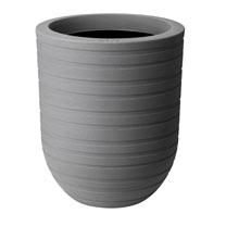 Allure Ribbon High Pot - Mineral Clay