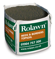 Rolawn Beds & Borders Topsoil (1m³ Bulk Bag - 1,000 litres approx volume when packed)