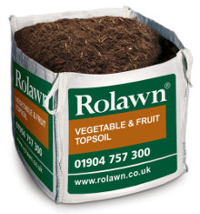 Rolawn Vegetable & Fruit Topsoil (1m³ Bulk Bag - 1,000 litres approx volume when packed)
